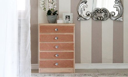 How to transform an old chest of drawers with paintable wallpaper
