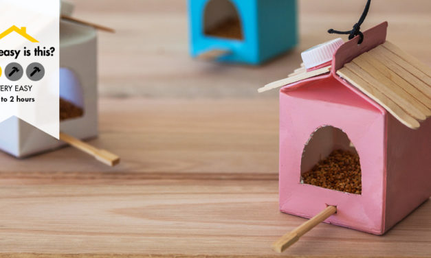 How to upcycle a yoghurt container into a bird feeder