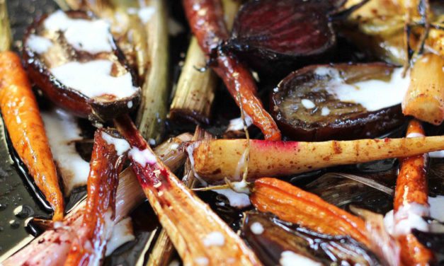 How to make warm balsamic roast vegetable salad with buttermilk dressing
