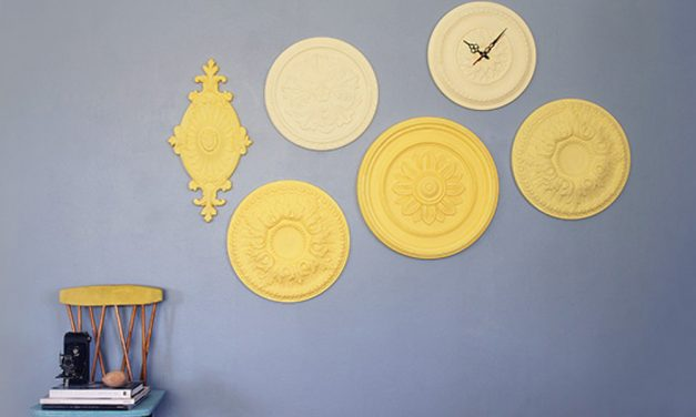 How to turn ceiling roses into wall art