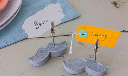 How to make cement place card holders
