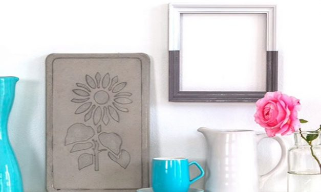 How to make an embossed cement plaque