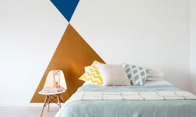 How to paint a geometric feature wall
