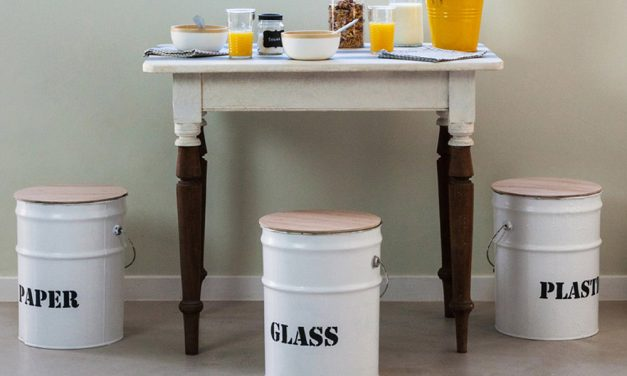 How to upcycle old paint tins into kitchen stools