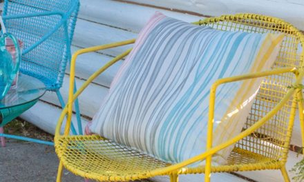 How to revive old wire garden chairs with spray paint