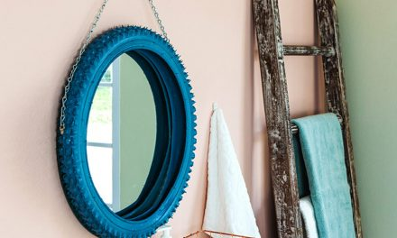 How to upcycle a bicycle tyre into a mirror frame