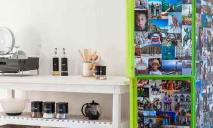 How to decoupage your fridge with photos