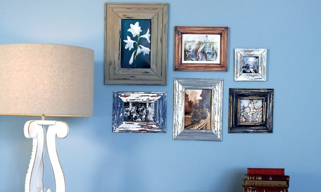 How to give picture frames a weathered look