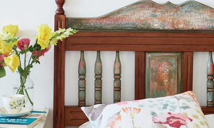 How to paint an antique headboard