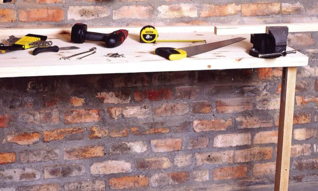 How to build a foldaway work bench