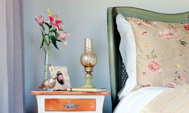 How to upcycle a bedside table using a distressed paint effect