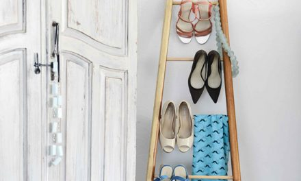 How to make a shoe stand using a DIY ladder