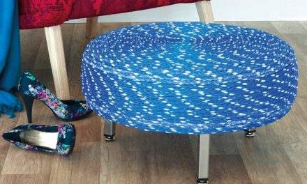 How to make a footstool out of an old tyre and some rope