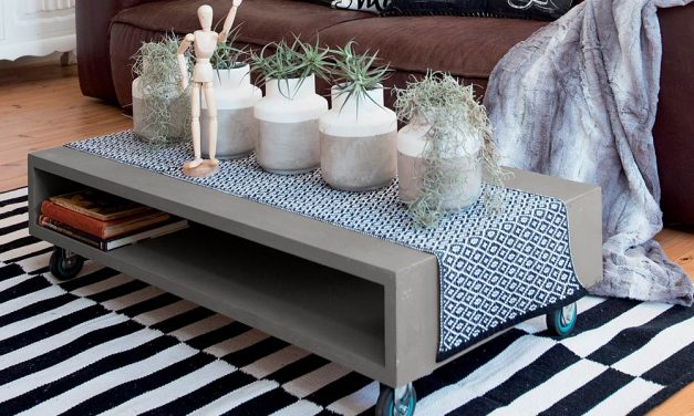 How to update an old coffee table with the cement-look