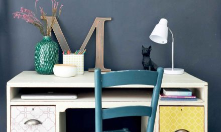 How to give an old desk a Moroccan makeover