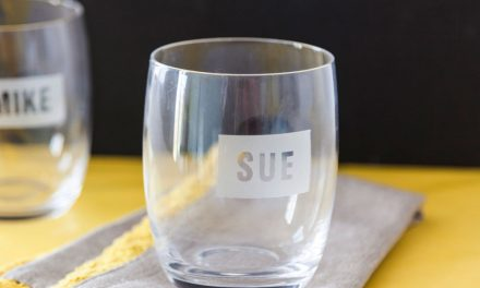 How to personalise drinks glasses