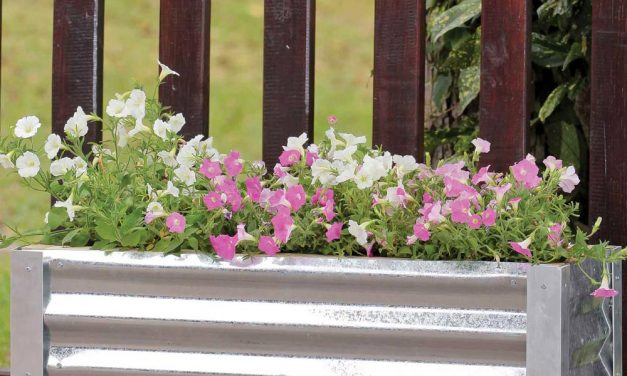 How to make a garden planter using leftover roofing materials