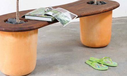 How to make a bench with 2 pot planters