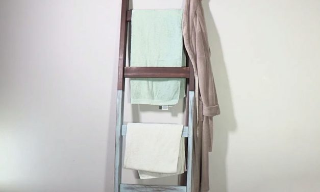 How to make a towel rail ladder