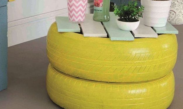 How to make a tyre table