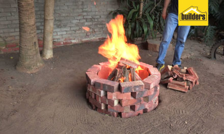 How to make a brick fire pit with a steel liner