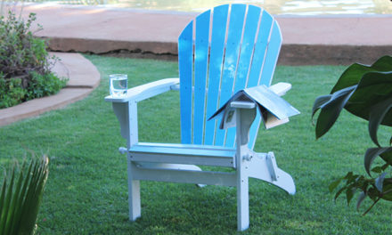 How to give your garden chair an ombre paint effect