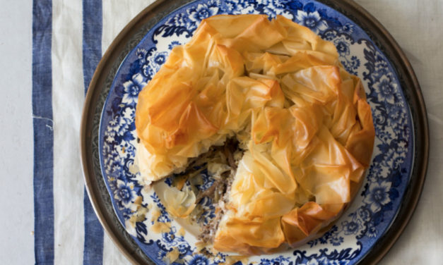 How to make Moroccan chicken phyllo pie with herb yoghurt