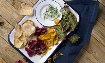 How to make vegetable chips with rosemary salt