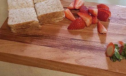 Making a wooden chopping block
