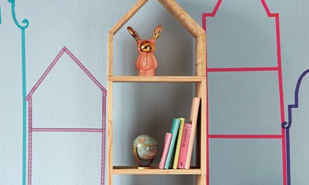 How to build a house bookshelf