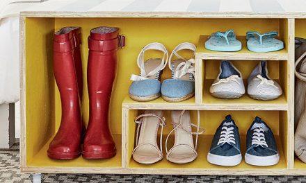 How to make a handy shoe shelf