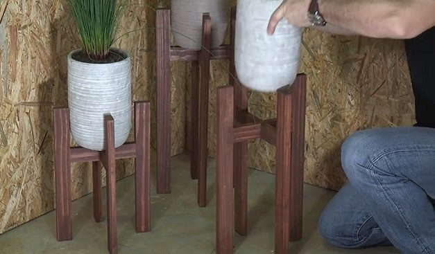 How to make a pot plant stand