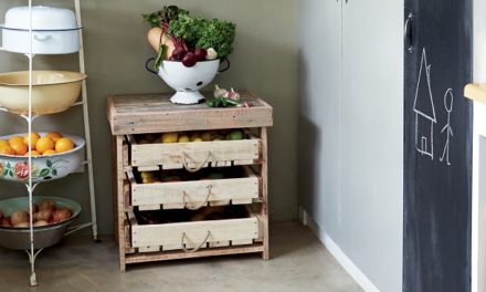 How to make a rustic veggie rack