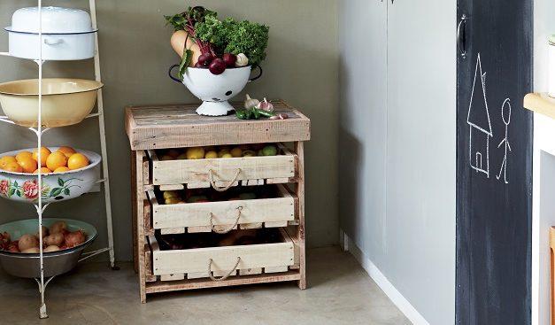 How to make a rustic veggie rack