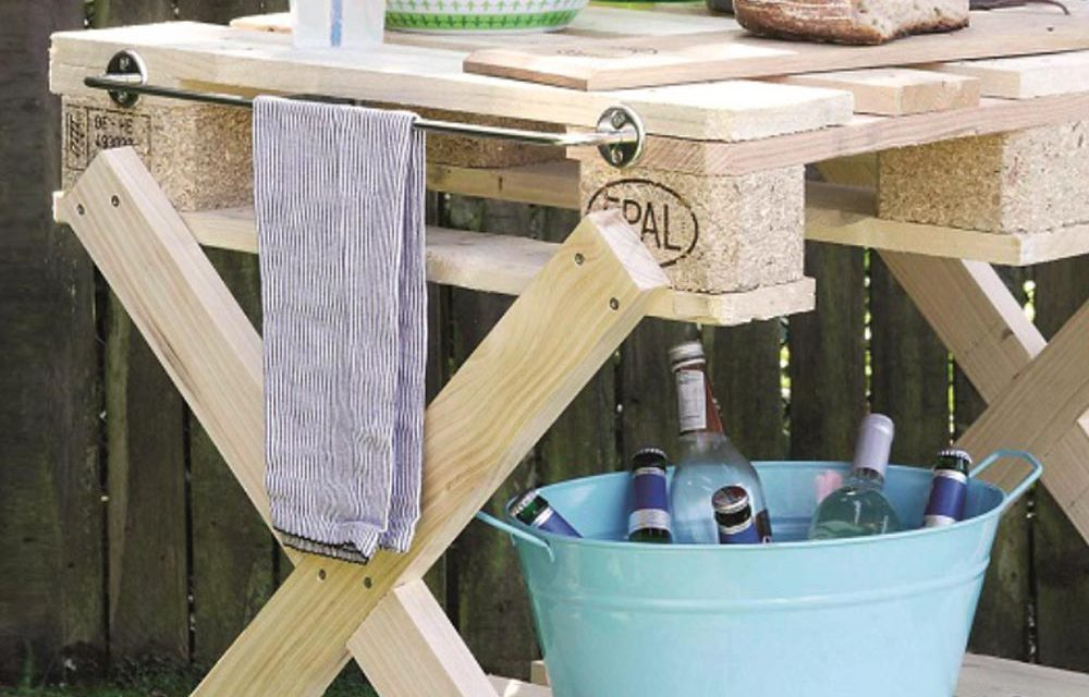 How to make a braai table with pallets