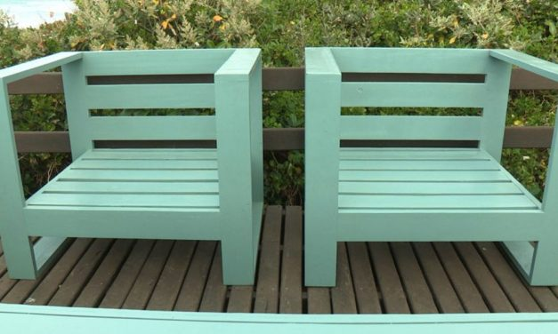 How to make a single seater chair set