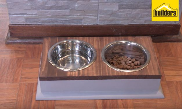 How to make your own dog feeding station