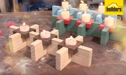 How to make candle holders out of wood
