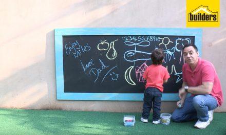 How to make a large framed chalkboard