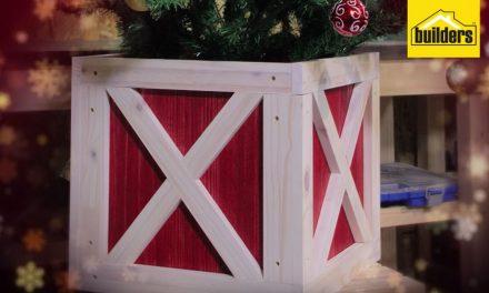 How to make a Christmas tree stand box
