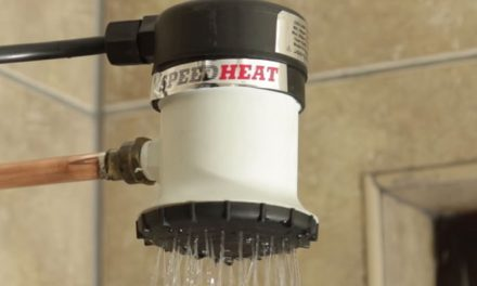 How to save water with the Speedheat shower head