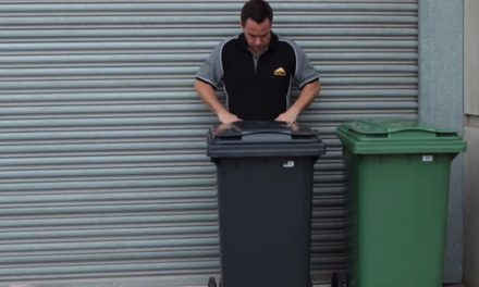 How to use a municipal wheelie bin container