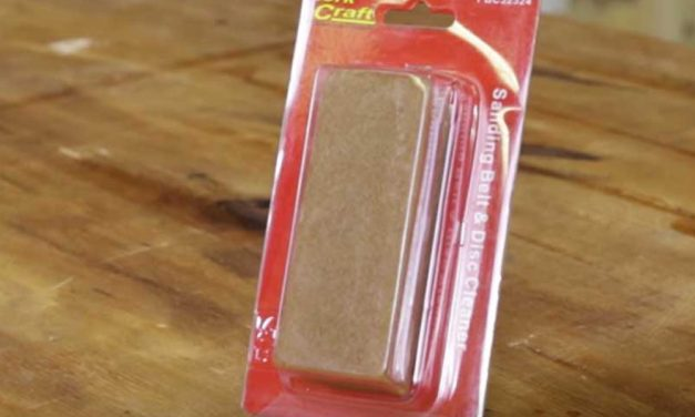 How to use a Tork Craft sanding belt and disc cleaner
