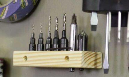 How to make a screw pilot holder