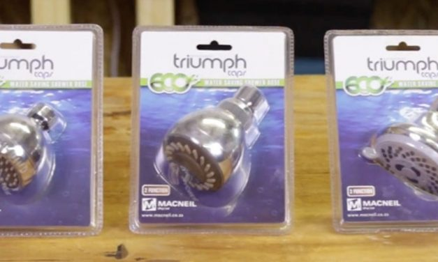 Product Review: Triumph water-saving shower rose range