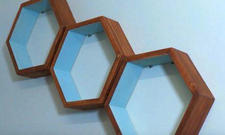 How to Make Floating Hexagon Shelves