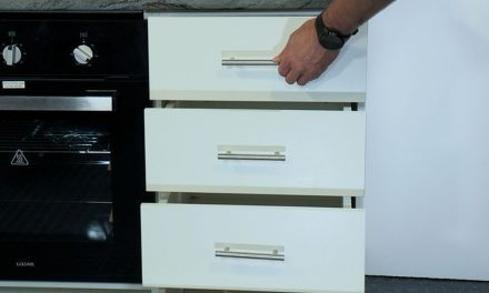 How to assemble a four drawer kitchen base unit flat pack