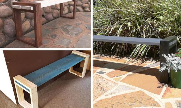 How to make a modern bench