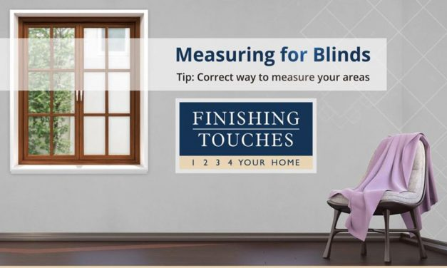 How to measure blinds correctly