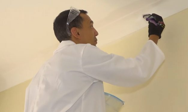 Bedroom makeover : How to paint ceilings